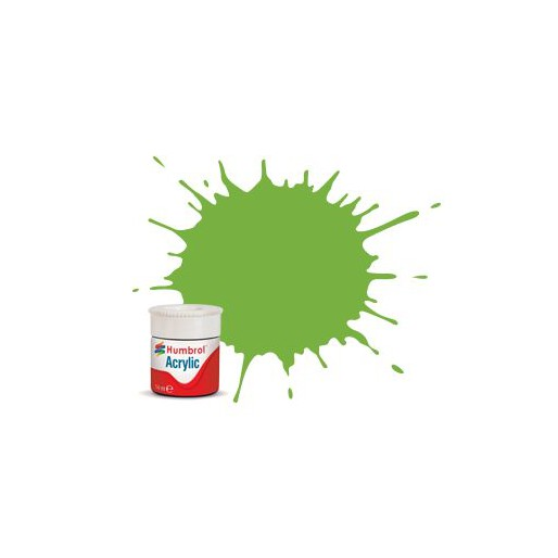 Humbrol AB0038 No. 38 Lime Gloss - 14ml Acrylic Paint