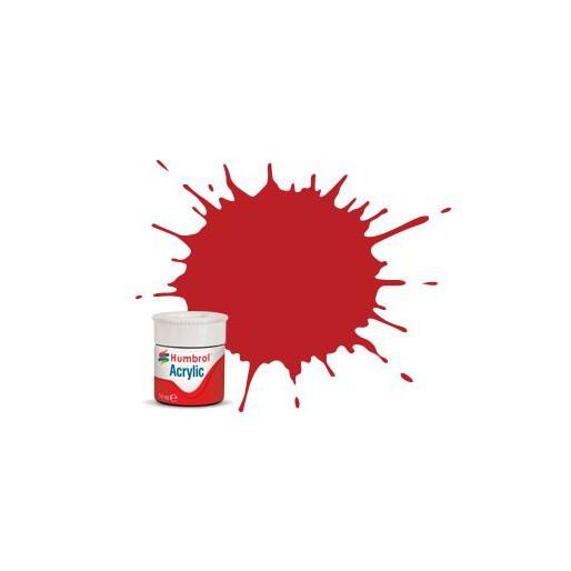 Humbrol AB0060 No. 60 Scarlet Matt - 14ml Acrylic Paint