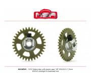 NSR 6434EVO 3/32 Plastic Gear with aluminium hub - 34 Teeth Ø 17,5mm - Sidewinder