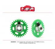 NSR 6629EVO 3/32 Plastic Gear with aluminium hub - 29 Teeth Ø 16mm - Anglewinder 15°