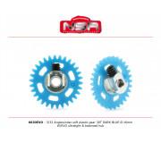 NSR 6630EVO 3/32 Plastic Gear with aluminium hub - 30 Teeth Ø 16mm - Anglewinder 15°