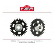 NSR 6632EVO 3/32 Plastic Gear with aluminium hub - 32 Teeth Ø 16mm - Anglewinder 15°