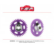 NSR 6633EVO 3/32 Plastic Gear with aluminium hub - 33 Teeth Ø 16mm - Anglewinder 15°