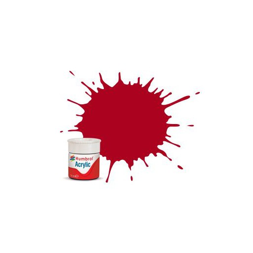 Humbrol AB0220 No. 220 Italian Red Gloss - 14ml Acrylic Paint
