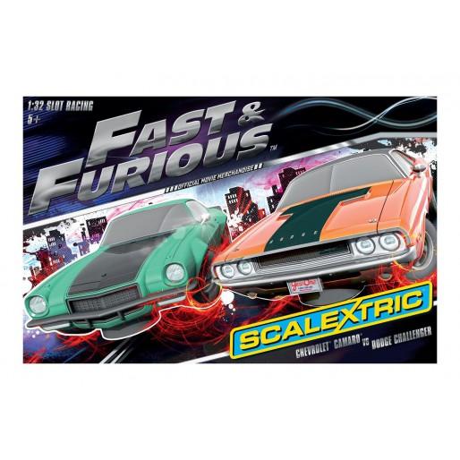 scalextric c1309 coffret fast furious slot car union. Black Bedroom Furniture Sets. Home Design Ideas
