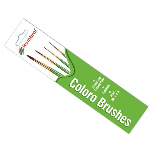 Humbrol AG4050 Coloro Brush Pack