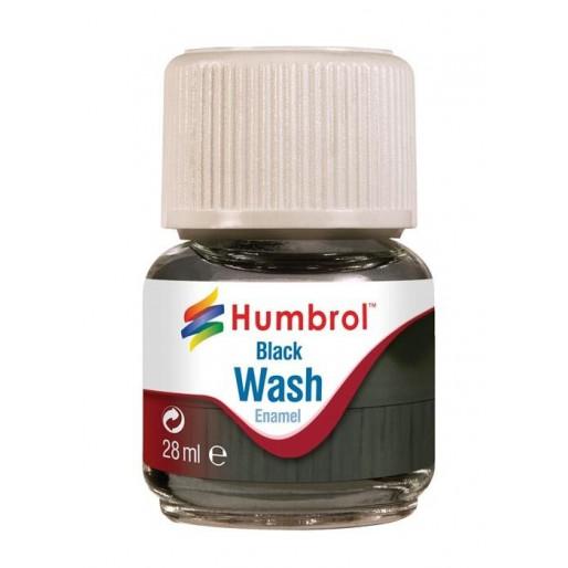 Humbrol AV0201 Enamel Wash Black - 28ml Enamel Paint