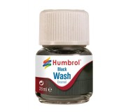 Humbrol AV0201 Enamel Wash Black - 28ml Enamel Paint