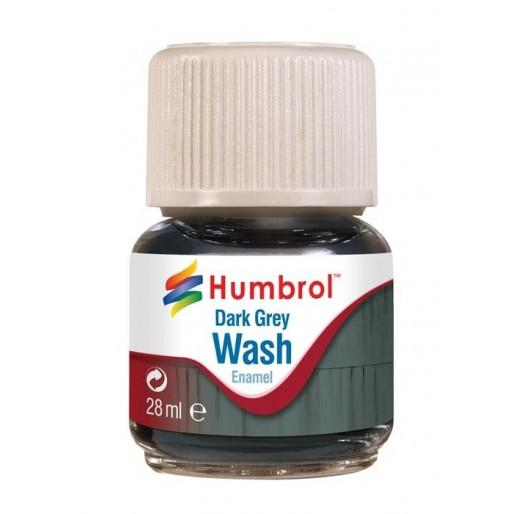 Humbrol AV0204 Enamel Wash Dark Grey - 28ml Enamel Paint