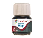 Humbrol AV0204 Enamel Wash Dark Grey - 28ml Enamel Paint