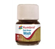 Humbrol AV0205 Enamel Wash Dark Brown - 28ml Enamel Paint