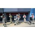 Slot Track Scenics SRAF 06 Equipe de Stand carburant et crics