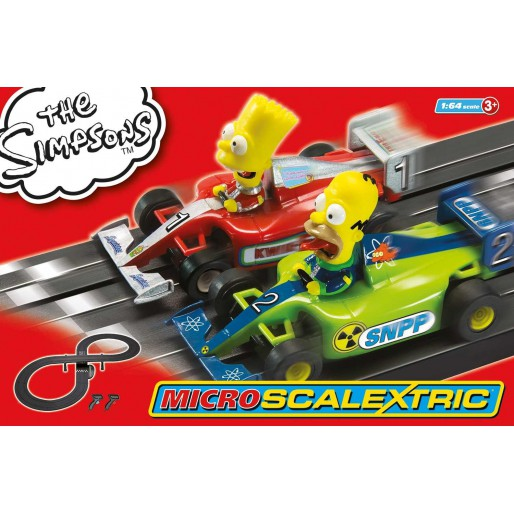 Micro Scalextric G1117 The Simpsons Grand Prix Set
