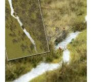 Busch 1313 Tapis de fibres: Rivière - paysage fluvial