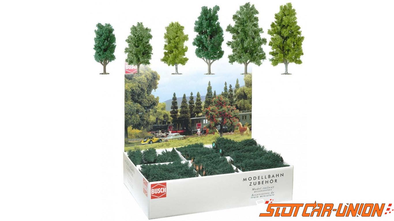 Busch 6332 arbres feuilles caduques 115 150mm x36 slot - Arbres a feuilles caduques ...