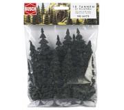 Busch 6475 Fir tree assortments with roots 60-135mm x10