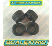 Scalextric W8514 Tyres Intermediate F1 x4