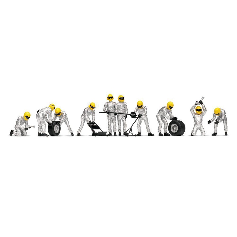 scalextric c8294 pit team tyre crew b  silver