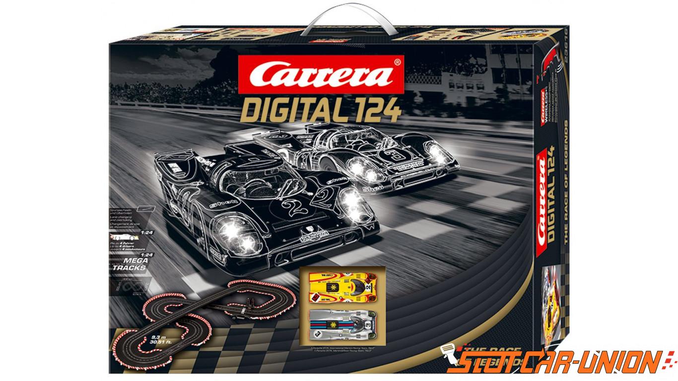 carrera digital 124 23616 race of legends set slot car union. Black Bedroom Furniture Sets. Home Design Ideas