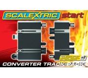 Scalextric Start C8525 Converter Track x2