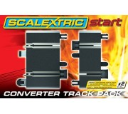 Scalextric Start C8525 Rail de Conversion x2