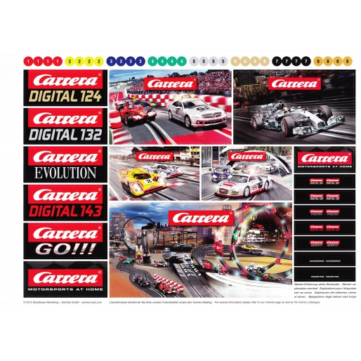 Carrera 71160 Logos sheet stickers