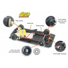 Slot.it PA74 Ø17,3mm front wheels for 4WD System x2