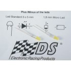 DS Racing Yellow Xenon LED 3mm