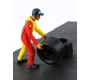 LE MANS miniatures Figure Francis, wheels carrier