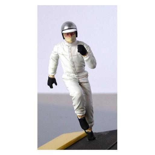 LE MANS miniatures Figurine Pilote des années 60/70 courant vers sa voiture
