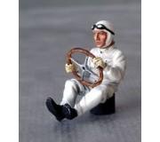 LE MANS miniatures Figurine Pilote assis des années1930/50