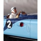 LE MANS miniatures Figure Driver of the 1930/50 sit in the car