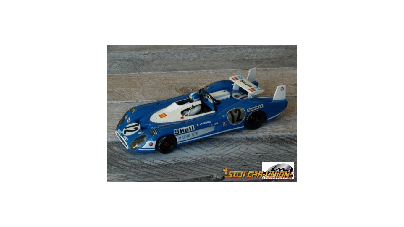 le mans miniatures matra ms670 le mans 1972 slot car union. Black Bedroom Furniture Sets. Home Design Ideas