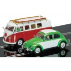 Scalextric C3371A Sand & Surf VW Beetle and VW Camper Van Limited Edition