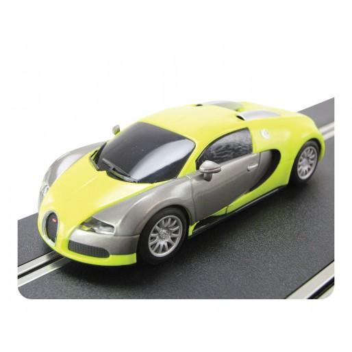 scalextric c3275 bugatti veyron jaune slot car union. Black Bedroom Furniture Sets. Home Design Ideas