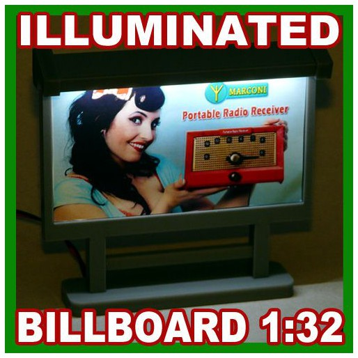 Proses LS-308 Illuminated Billboard (Built, laser-cut acrylic)
