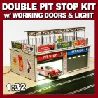 Proses LS-315 Retro Type Double Pit Stop Kit with Light and Sliding Doors