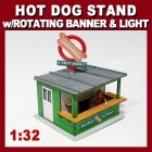 Proses LS-316 Hot Dog Stand Kit with Light and Rotating Banner
