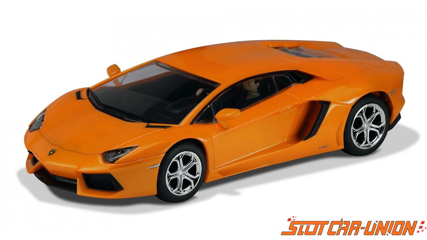 Scalextric C3460 Lamborghini Aventador Lp 700 4 Orange Slot Car Union
