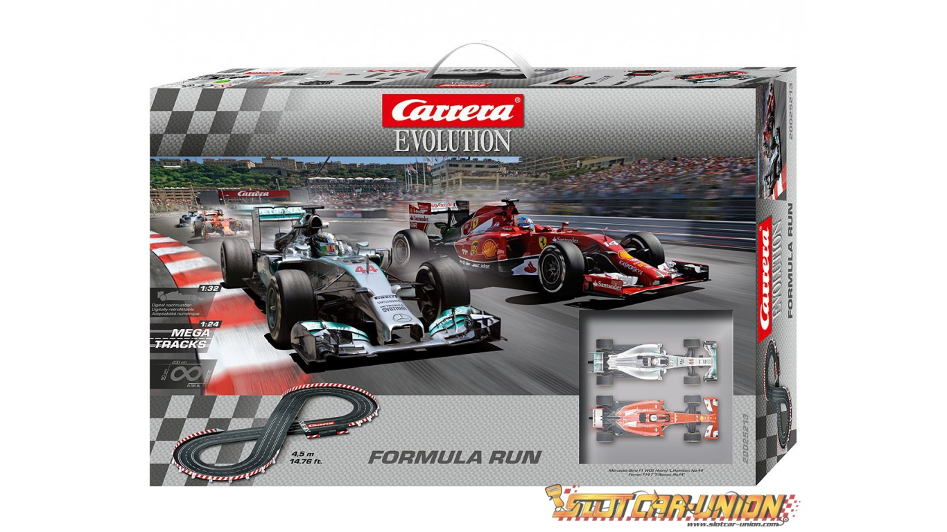 carrera evolution 25213 formula run set slot car union. Black Bedroom Furniture Sets. Home Design Ideas