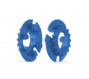 Slot.it CH107 Z16 Pulley for Mg wheels cyan x2