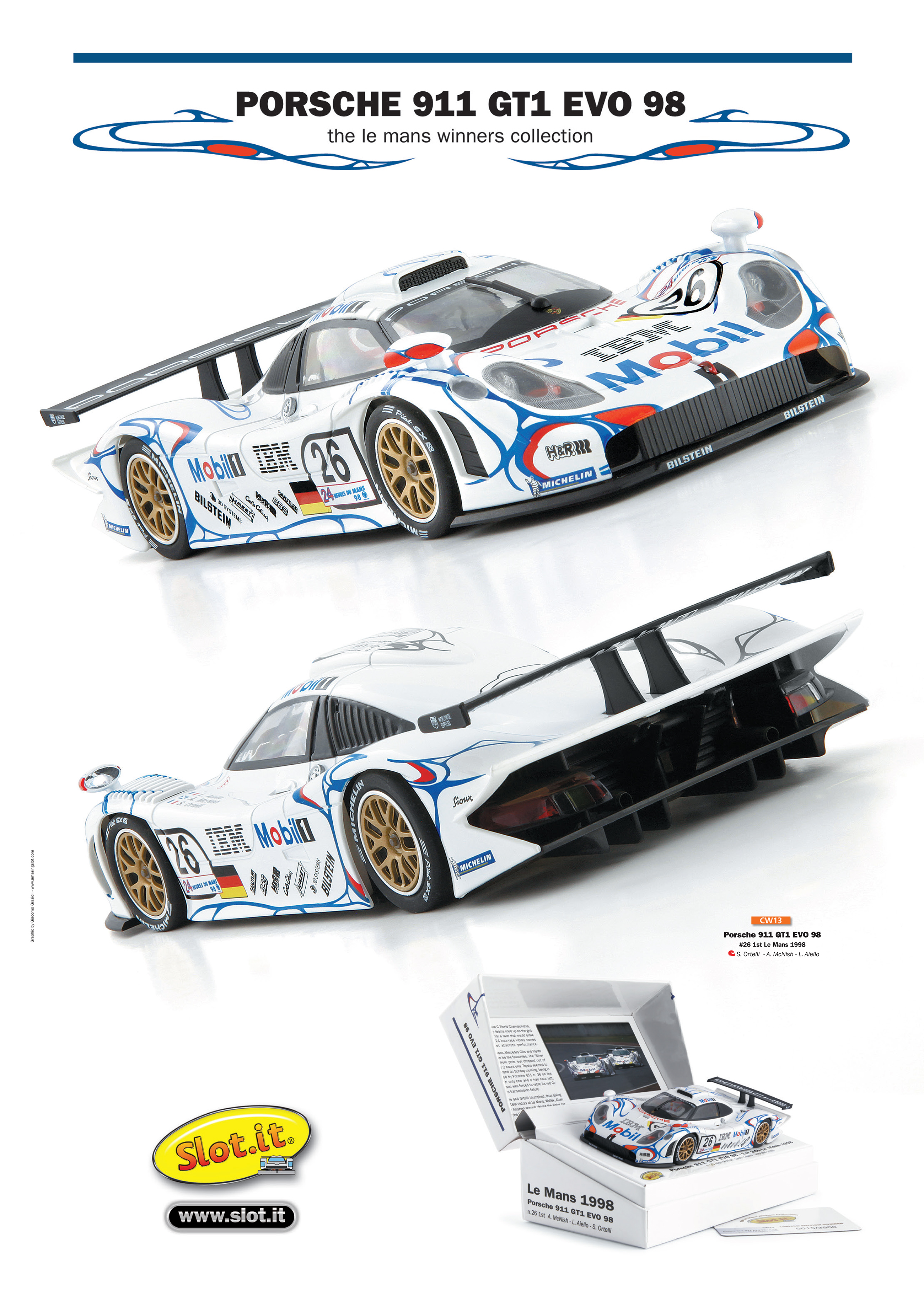 fascinating porsche 911 gt1 evo 98 slot it noisiestpassenger. Black Bedroom Furniture Sets. Home Design Ideas