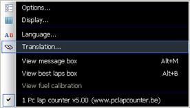 Pc Lap Counter translator - Slot Car-Union