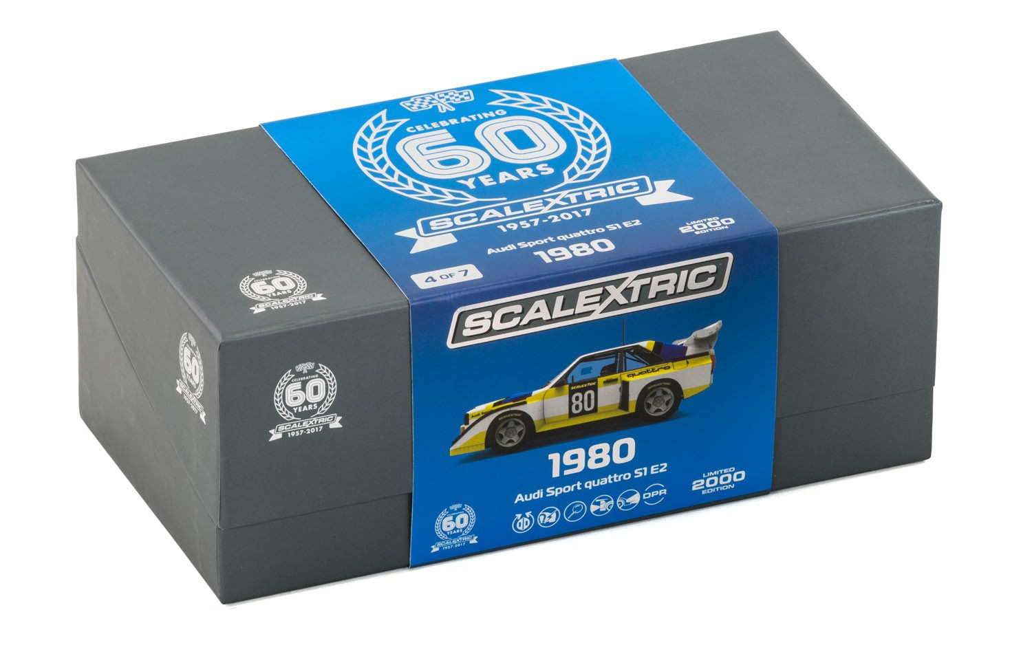 scalextric c3828a 60th anniversary collection 1980s audi sport quattro s1 e2 eur 54 89. Black Bedroom Furniture Sets. Home Design Ideas
