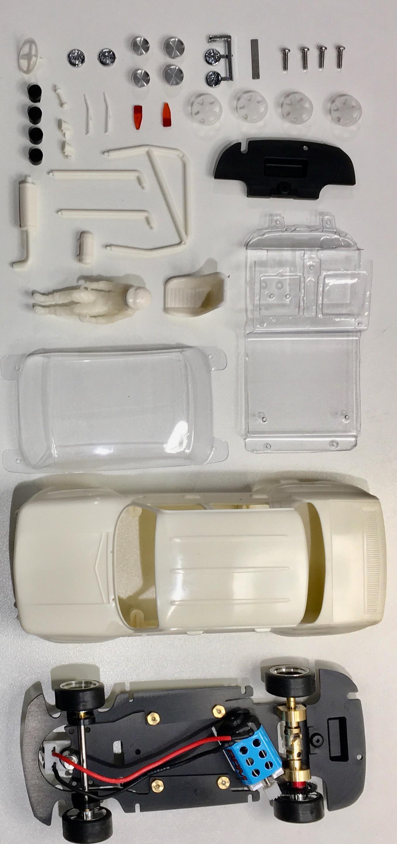 BRM R8 GORDINI Kit Blanc Complet - châssis préassemblé