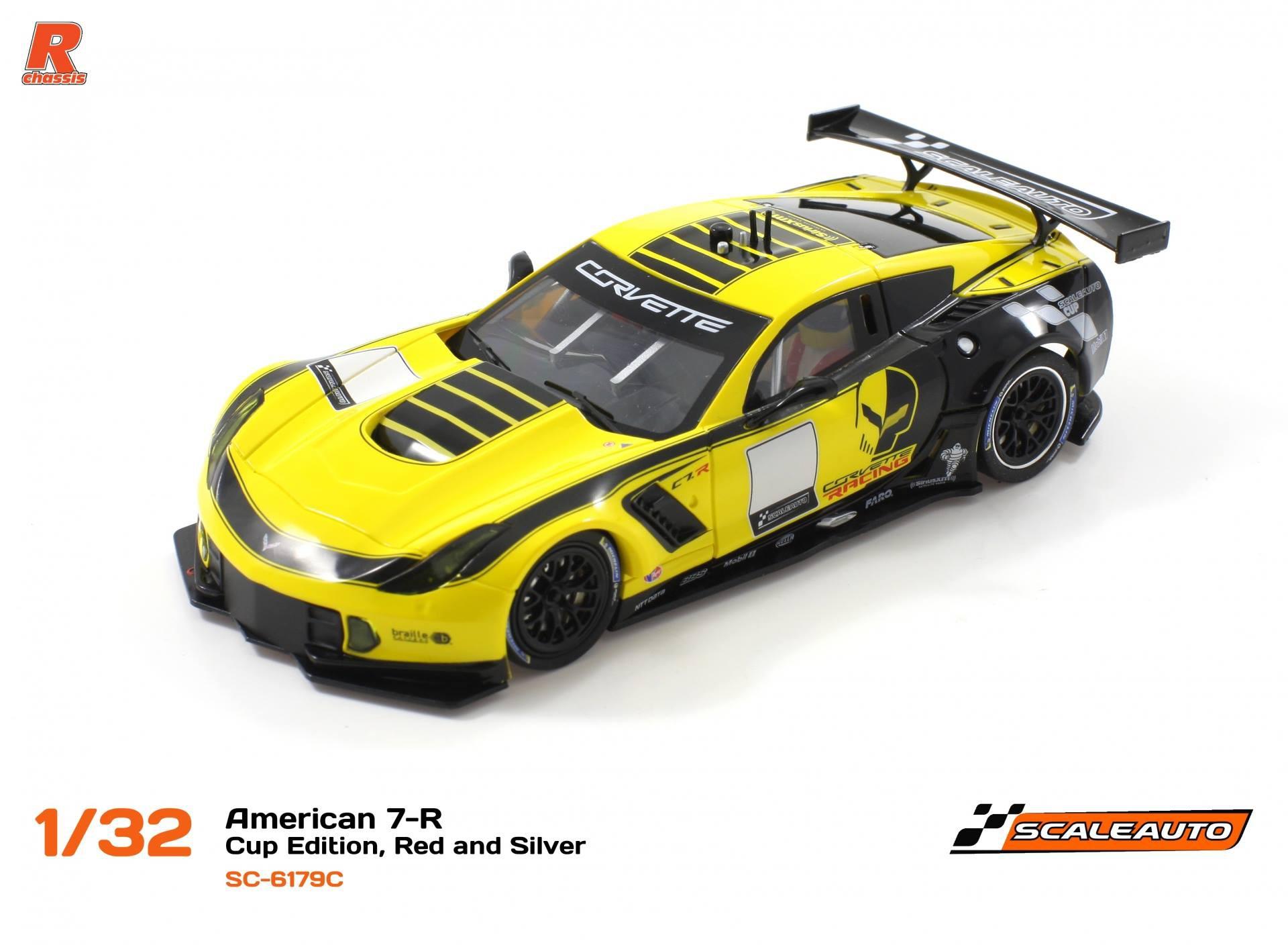 Scaleauto SC-6179C American C7-R Cup Edition, amarillo and negro