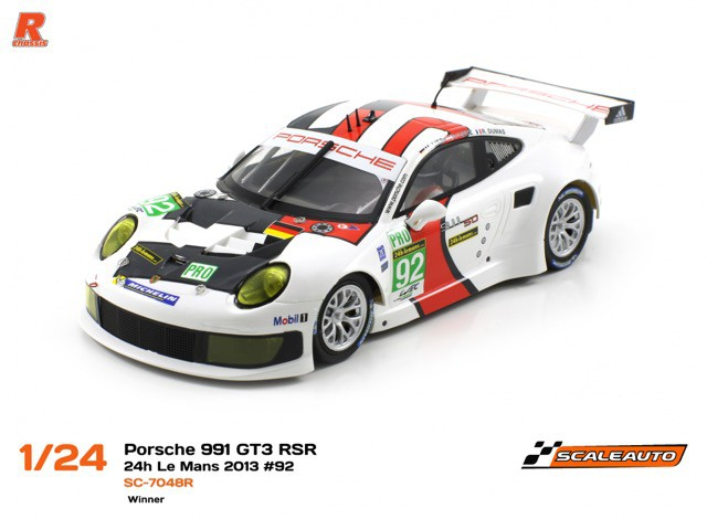 Scaleauto SC-7048R Porsche 991 RSR 24h Le mans 2013 n.92 Winner Porsche AG Team