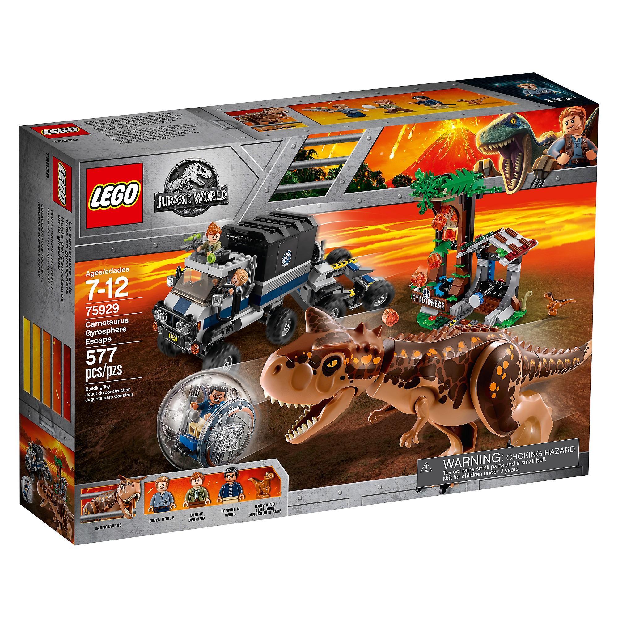 LEGO 75929 Le Carnotaurus et la fuite en Gyrosphère