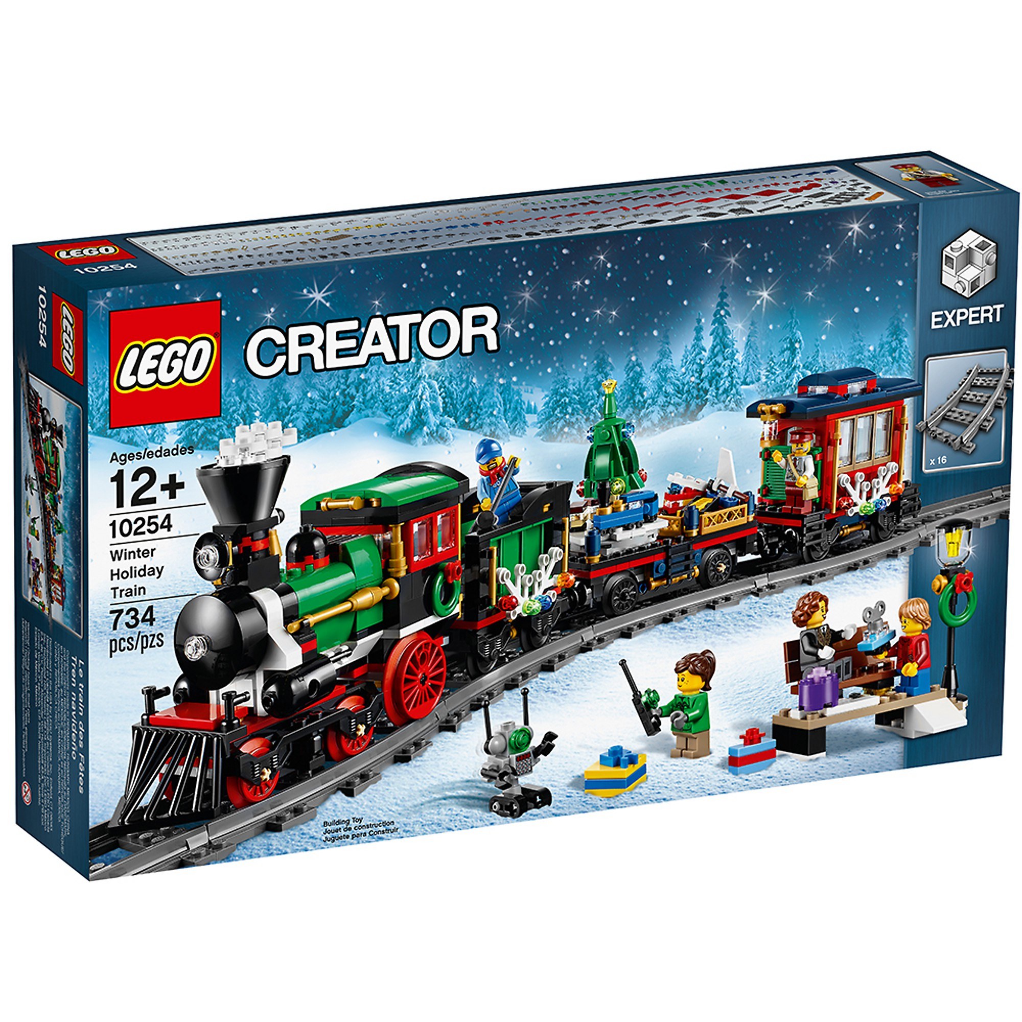 LEGO 10254 Le Le Le train de Noël  diseño simple y generoso