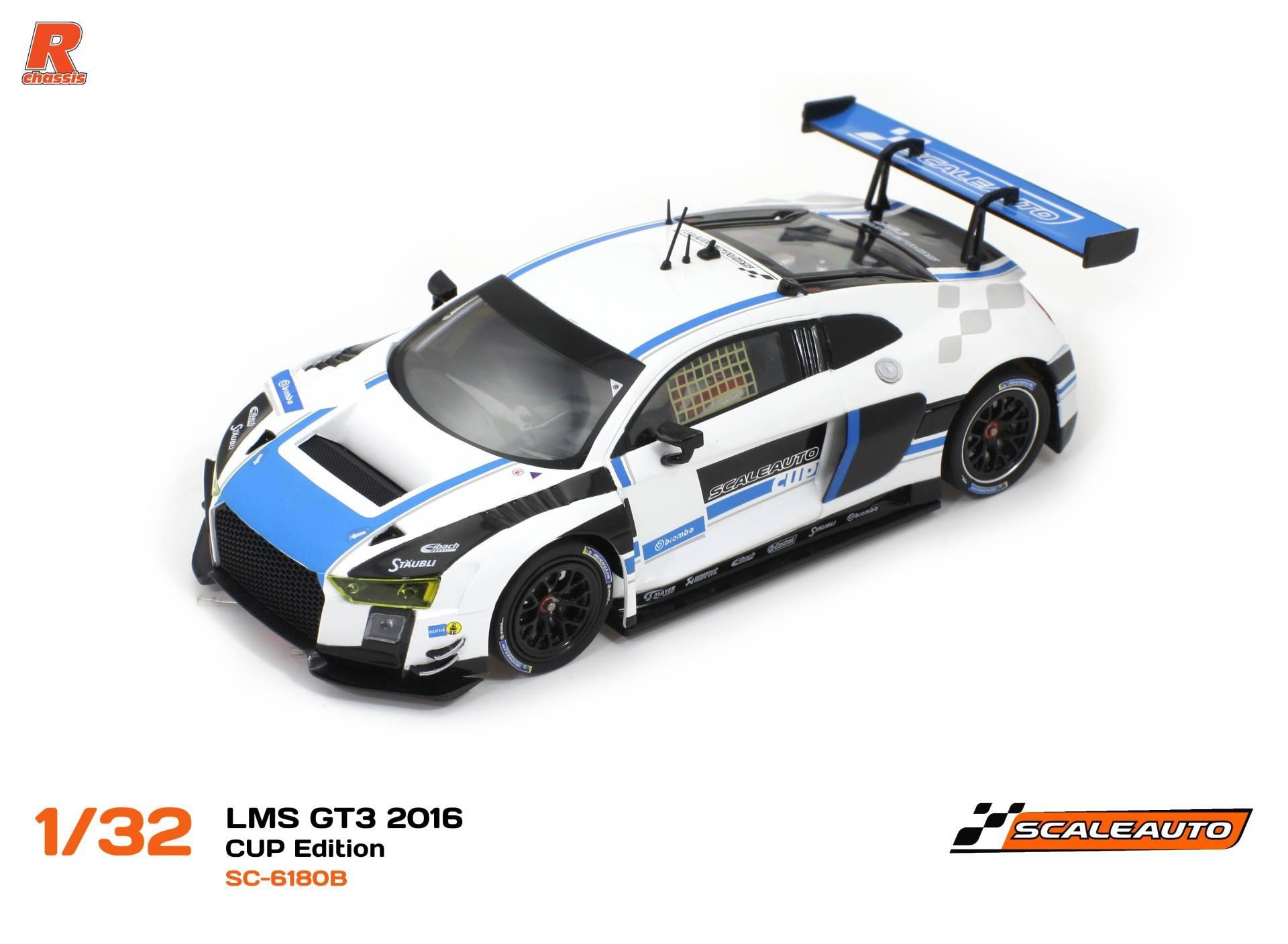 Scaleauto SC-6180B LMS GT3 2016 CUP Edition, blanco azul